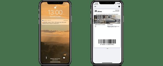 Alinéa - Wallet mobile soldes dété 2020