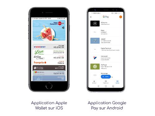 Application wallet mobile sur iOS et Android