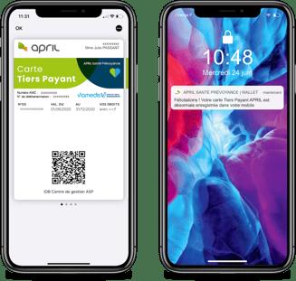 April sur wallet mobile Apple - Captain Wallet
