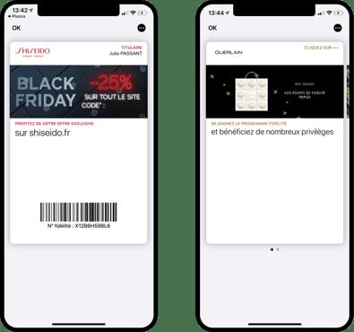 Cartes Shiseido et Guerlain mises à jour pour le Black Friday