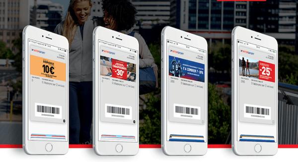 Cartes et offres Intersport dématérialisées mises à jour dans les wallet mobile - Marketing sur wallet mobile