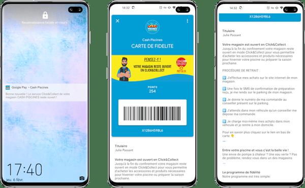 Cash Piscines se met au mobile wallet