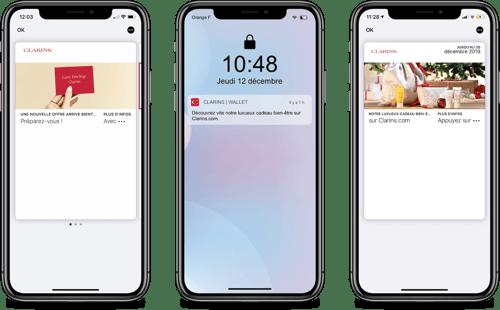 Clarins sur wallet mobile Apple - Captain Wallet