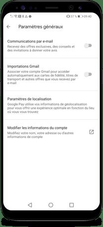 Comment connecter Gmail et Google Pay - Etapes 3 et 4-1