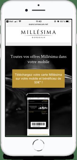 Email dédié-wallet mobile-Millesima