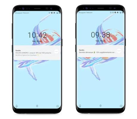 Envoi de notifications push pendant les soldes 2019 sur Android
