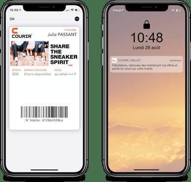 Finalisation de linstallation de la carte Courir dans Apple Wallet