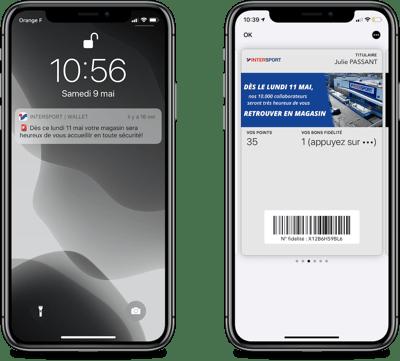 Intersport annonce la réouverture de ses boutiques sur wallet mobile