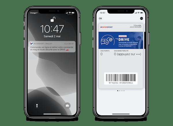 Intersport gère son programme click & collect via le wallet mobile