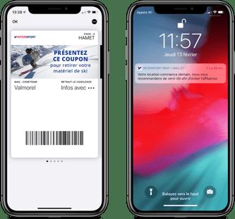 Intersport sur wallet mobile Apple - Captain Wallet