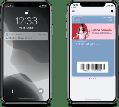 Jacadi annonce la réouverture de ses boutiques sur wallet mobile