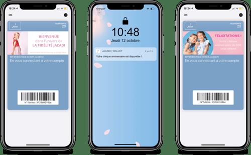 Jacadi sur wallet mobile Apple - Captain Wallet