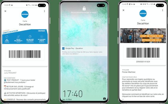 Mise à jour de la carte wallet Decathlon Android