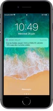 Notification push Jacadi pour les soldes 2019 - campagne sur wallet mobile