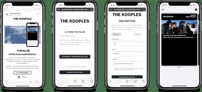 Parcours de dématérialisation via email The Kooples
