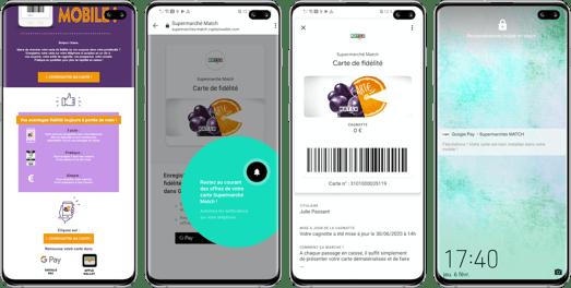 Parcours de dématérialisation via un mail dédié Supermarchés Match Android