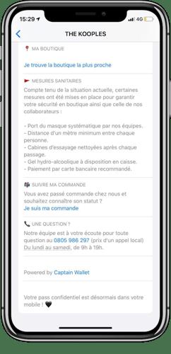 Verso de la carte The Kooples sur iOS (Apple Wallet)