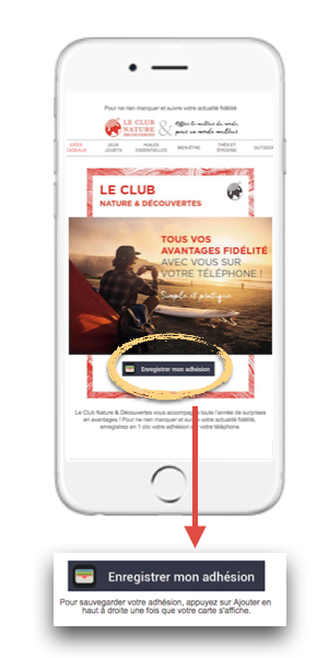 Dématérialisation de la carte Le Club de Nature & Découvertes via email