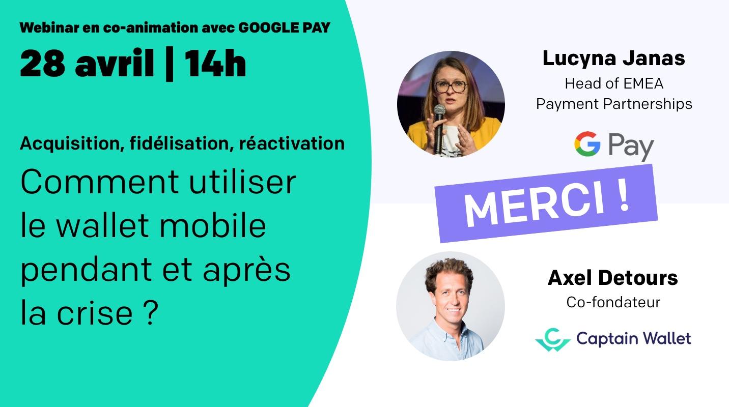 Notre débrief du webinar avec Google Pay !