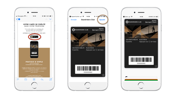 Boardriders Club maintenant disponible sur Apple Wallet