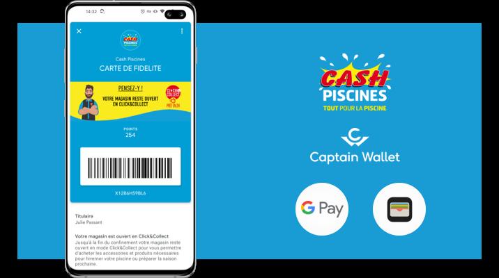 Cash Piscines interagit avec ses clients sur mobile grâce au wallet