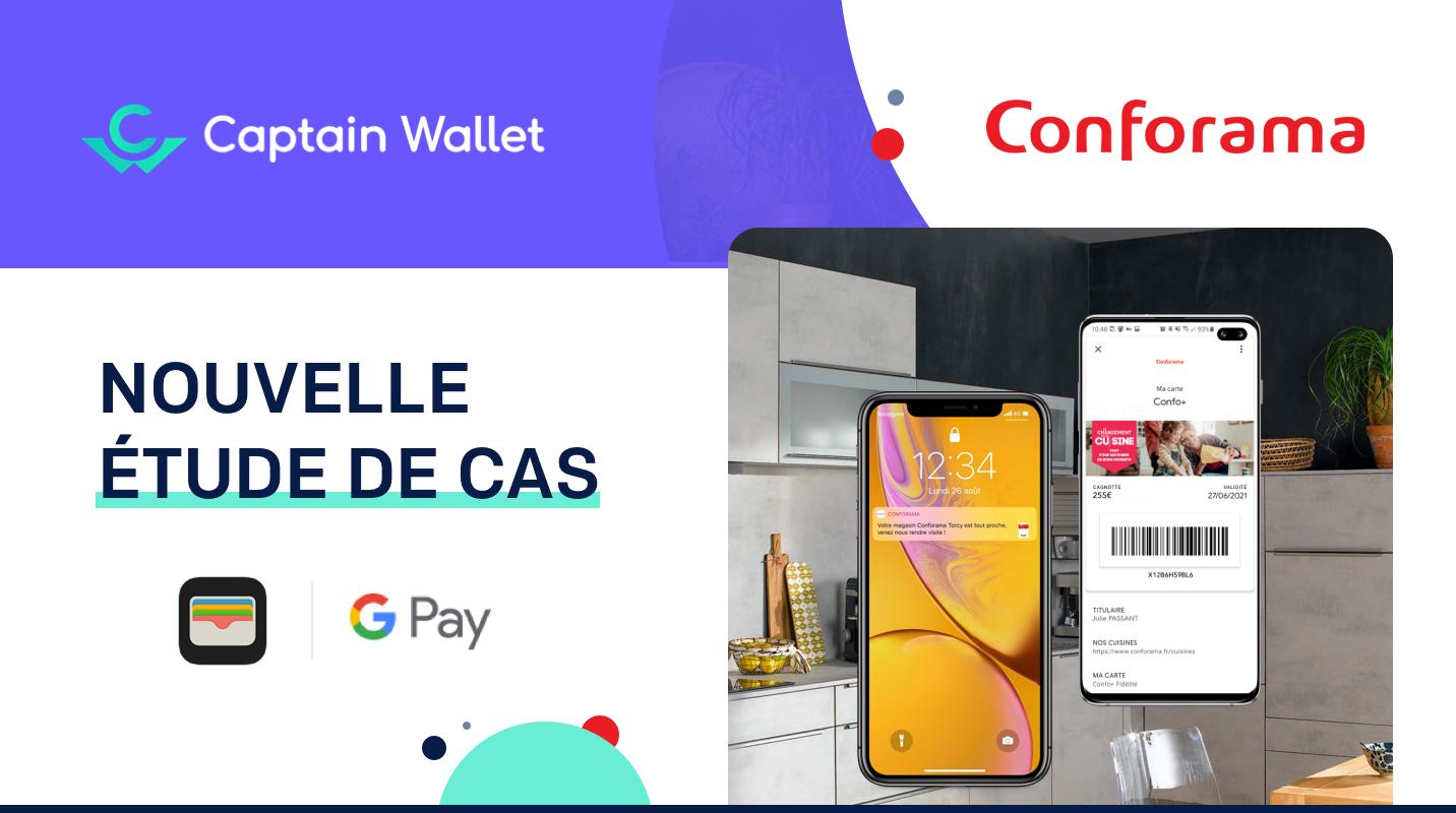 Conforama poursuit sa digitalisation sur mobile grâce aux wallet