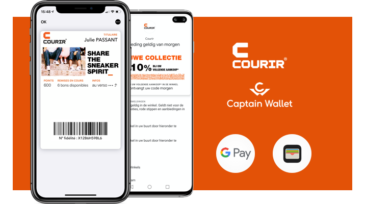 Courir se lance sur le mobile wallet en France et à l'international