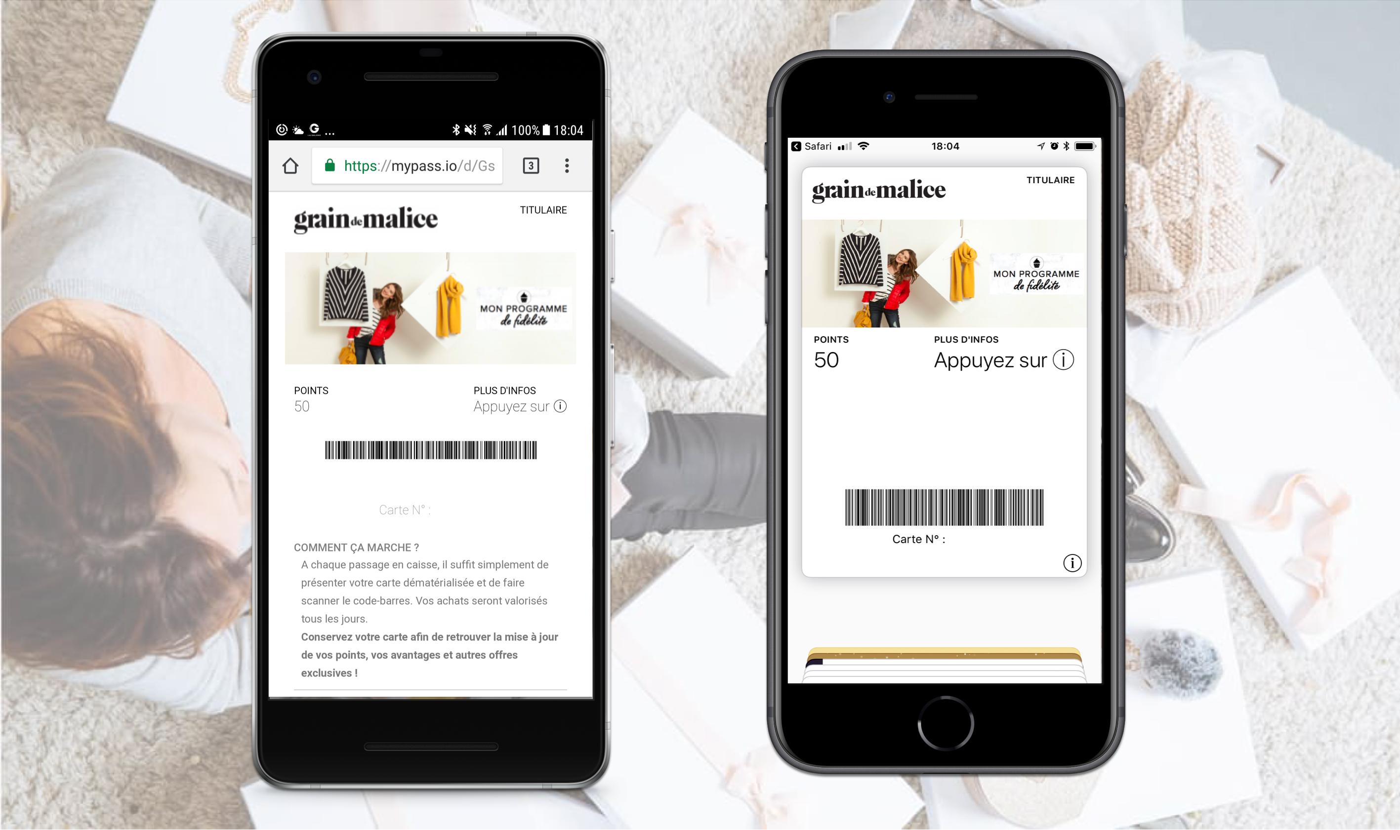 Grain de Malice adopte les wallet mobile