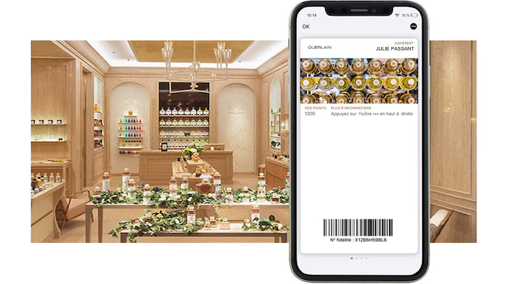 Guerlain poursuit sa digitalisation avec les wallet mobile
