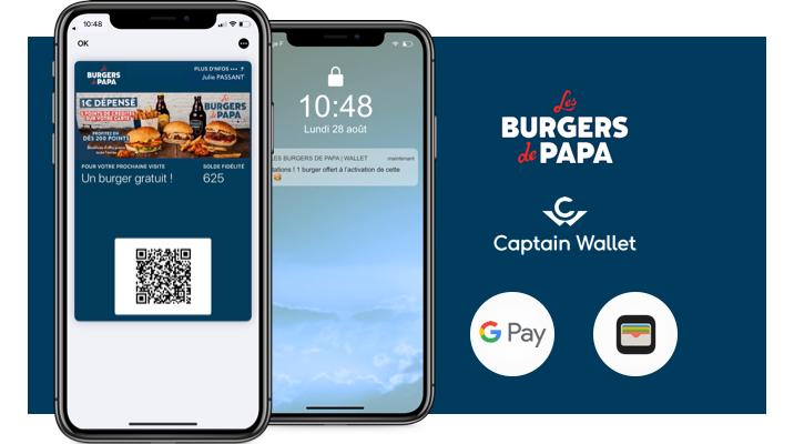 Les Burgers de Papa se met au mobile wallet pour passer au sans contact