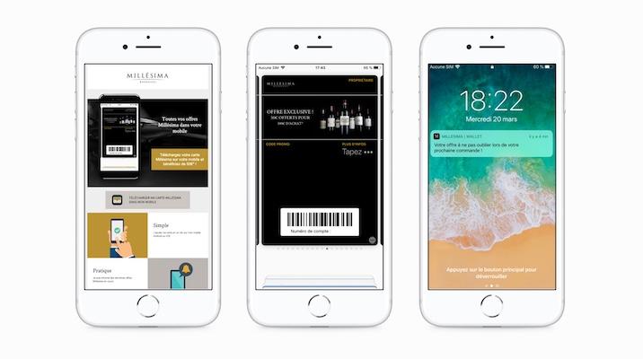 Millésima dématérialise ses offres sur wallet mobile