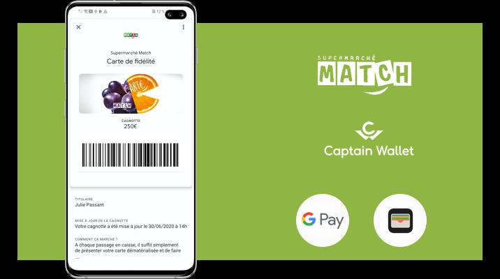 Supermarché Match digitalise sa carte de fidélité avec Captain Wallet