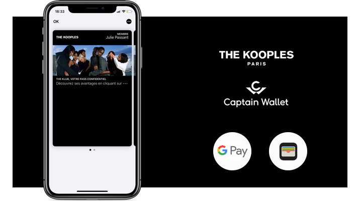 The Kooples intègre le mobile wallet dans sa communication 360°