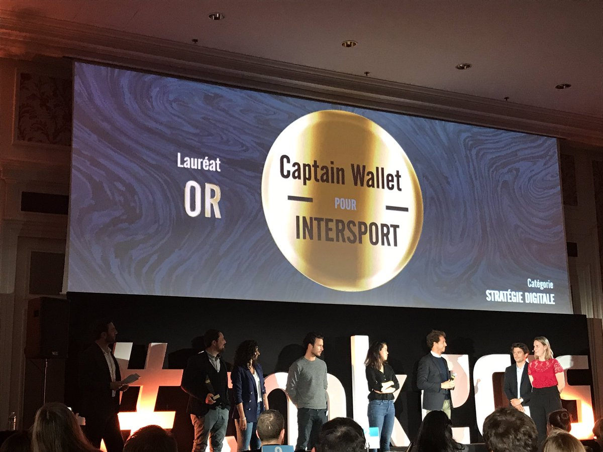 1ère place  pour Captain Wallet aux trophées marketing !