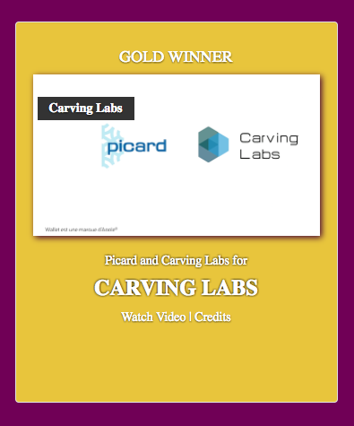 Carving Labs Big Winner of the Smarties Awards EMEA !
