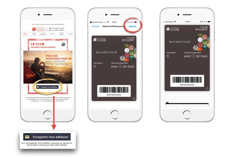 Nature & Découvertes s'essaye au mobile wallet marketing